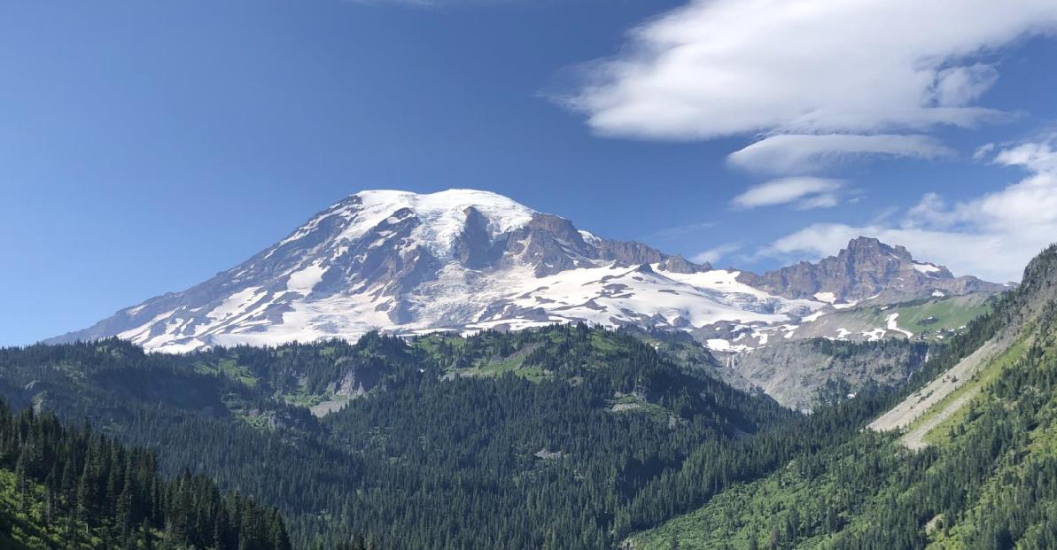 Mount Rainier on a sunny day