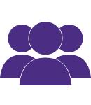3 purple team logo